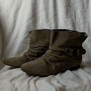 Nine West Leather Worn Look Western Boot Bootie 9
